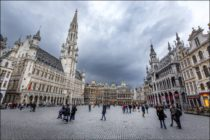 Grand-Place et Hôtel de Ville - Grote Markt en stadhuis - Grand-Place and City Hall